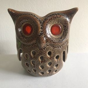 PartyLite Accents - Partylite Ceramic Owl Candle Holder